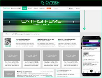 绿色目录主题标准版 GreenD theme for Catfish-CMS